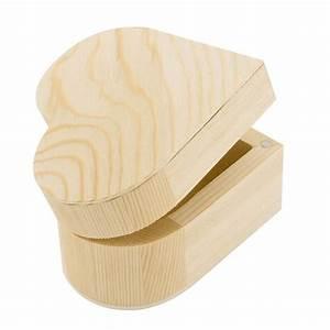 Petite Boite En Bois : support d corer boite coeur en bois 9x9x6cm ctop ~ Teatrodelosmanantiales.com Idées de Décoration