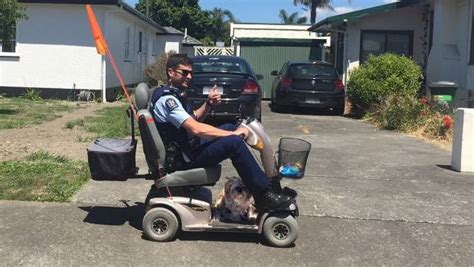 Cop Goes The Extra Mile With Mobility Scooter For Elderly