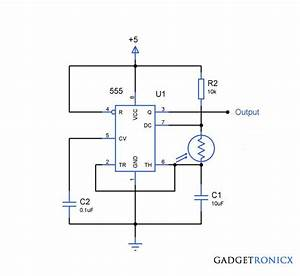 Light To Frequency Converter Circuit Using Ic 555