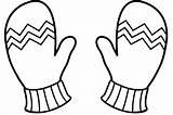 Glove Clipart Snowman Gloves Coloring Snow Webstockreview sketch template