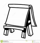 Easel Paper Wooden Illustration Sketch Vector Drawing Drawn Line Simple Coloring Blank Canvas Whiteboard Painting Empty Comp Diagram Alamy Dreamstime sketch template