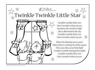 twinkle twinkle  star coloring page view  print