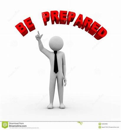 Prepared Preparation Clipart 3d Person Business Illustration