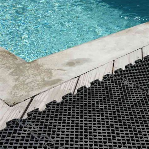 rubber drainage mats are absolutely vital around pools