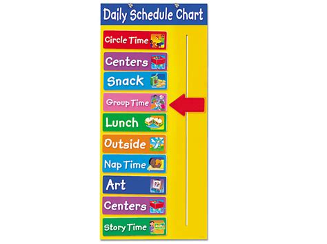 today schedule chart  lakeshore learning