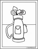 Golf Bag Coloring Clubs Ball Template Bags Pencil Balls Pdf Colorwithfuzzy sketch template