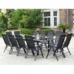 Table De Jardin Extensible 12 Places : ravenne 12 salon de jardin en aluminium 12 places gris ~ Edinachiropracticcenter.com Idées de Décoration
