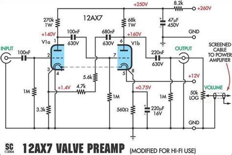 Preamplifier Schematic Electronics Diy