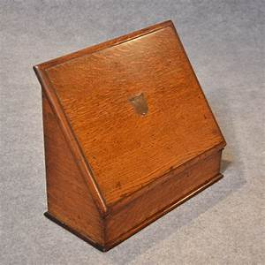 antique writing box quality oak stationery box desk tidy With desk letter box