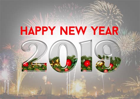 20+ Happy New Year 2019 & Fireworks Pictures & Wallpapers