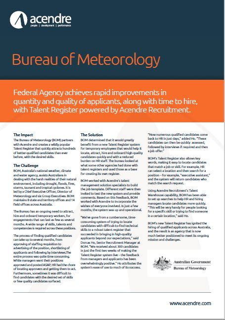 bureau of metrology bureau of meteorology study acendre