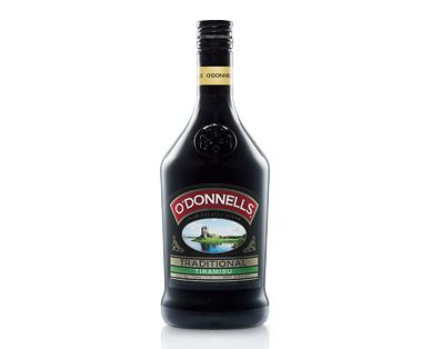 The coffee flavor is even more intense with the combination of strong brewed black coffee as well as coffee liqueur. O'Donnells Tiramisu Liqueur 700ml - ALDI Australia