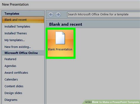 create new template in powerpoint how to make a powerpoint template 12 steps with pictures