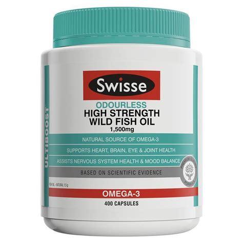 swisse ultiboost odourless high strength wild fish oil