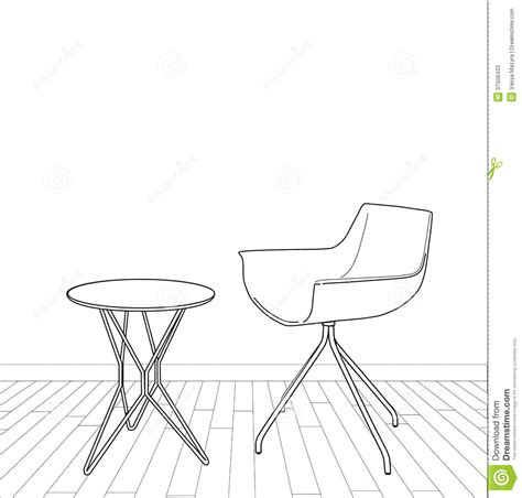 table et chaise design sketch of modern interior table and chair stock photos image 37506433