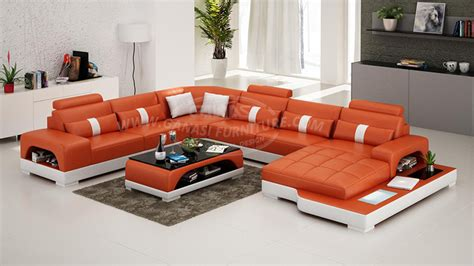 Ganasi 7 Seater Sofa Set,100% Top Grain Leather Sofa Set