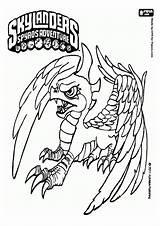 Coloring Pages Skylanders Sunburn Printable Skylander Colouring Unicorn Giants Ninja Gut Squidoo sketch template