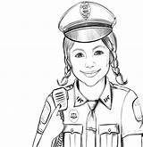 Police Coloring Officer Pages Policeman Gambar Polisi Mewarnai Woman Man Print Military Printable Adults Cartoon Dog Anak Profesi Popular Masjid sketch template