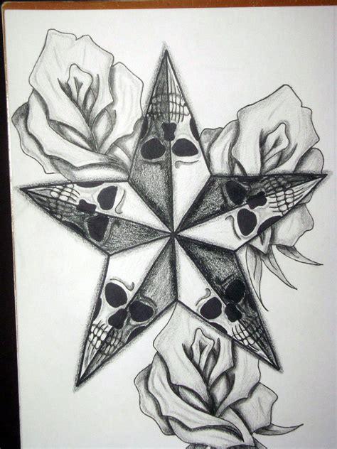 stars  roses tattoo designs cool tattoos bonbaden