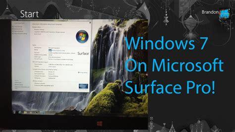 windows 7 on microsoft surface pro