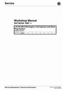 Skoda Octavia Workshop Manual 1 9l   74 Kw  Tdi  Engine