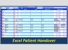 Shift Handover Template Excel calendar monthly printable