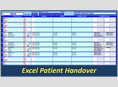 Handover Template Excel calendar monthly printable