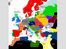 Europe 1430, 14301460 Map Game Alternative History
