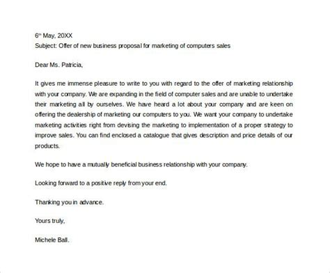 sample business proposal letter   business