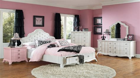 bedrooms  black beds girls white full size bedroom