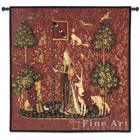 woven wall tapestry sense of touch scarlet tapestry wall hanging