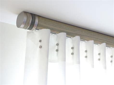 french grey flush ceiling fix pole modern curtain