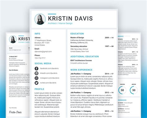 Free Resume And Cover Letter Template by Resume And Cover Letter Template Psd Psd