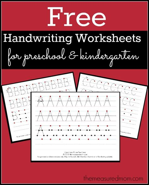 free printable handwriting worksheets for preschool 375 | free handwriting worksheets for preschool and kindergarten