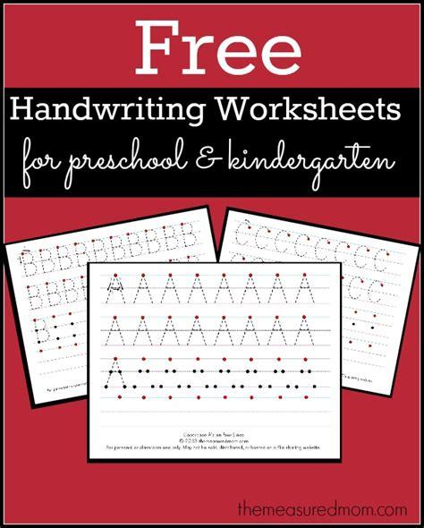 Free Printable Handwriting Worksheets For Preschool & Kindergarten  The Measured Mom
