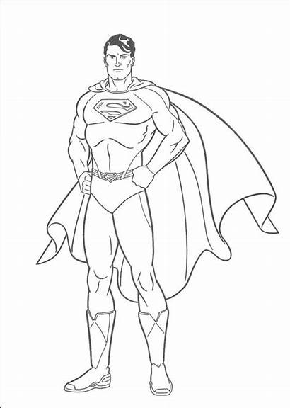 Superman Coloring Pages Super Printable Para Dibujos