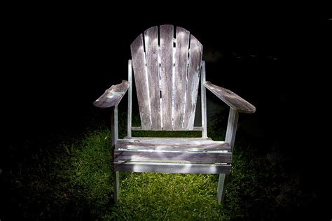 adirondack chair painted with light photograph by greg kopriva