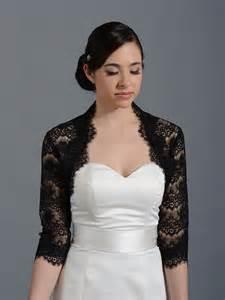 bolero robe de mariã e black 3 4 sleeve bridal lace wedding bolero jacket 051n