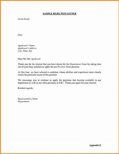 Rejection Letter Template For Job Applicants Images