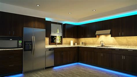 Led Cupboard Lighting Kitchen - led kitchen cabinet and toe kick lighting contemporary