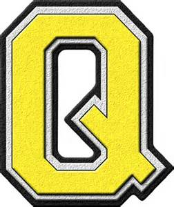 Yellow Letter Q