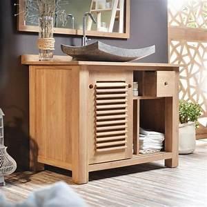 Meuble Vasque Bois Salle De Bain : meubles de salle de bain lesquels choisir ~ Teatrodelosmanantiales.com Idées de Décoration