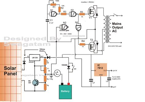 Simple Solar Inverter Circuits For Students