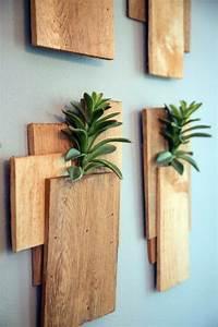 Wanddeko Für Garten : aus holz bretter vasen f r die wand bauen deko ~ Watch28wear.com Haus und Dekorationen