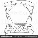 Stage Coloring Theater Theatre Clipart Curtains Illustration Drama Pages Curtain Colouring Template Class Sketch Printable Bnp Studio Royalty Sketchite Rf sketch template