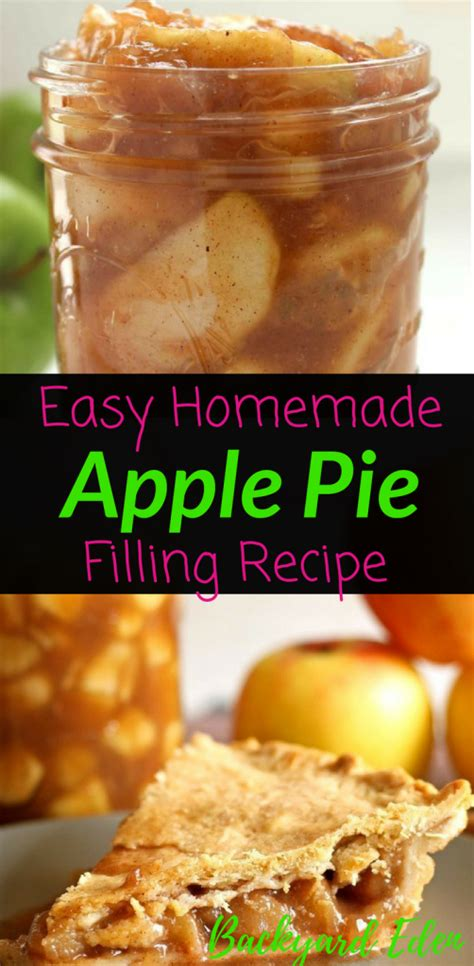 Well, here's an easy way to make healthy apple pie filling that's ideal for recipes like apple pie, apple crumble, and even as a topping for ice cream! Easy Homemade Apple Pie Filling Recipe - Backyard Eden