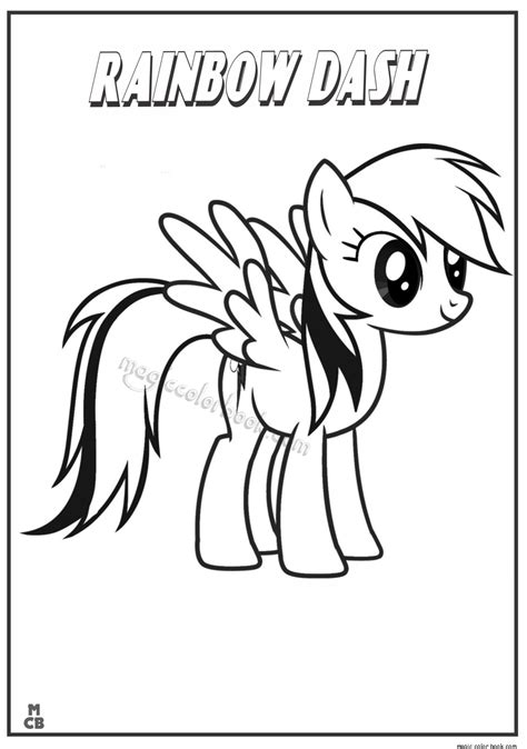 mlp coloring my pony rainbow dash coloring pages