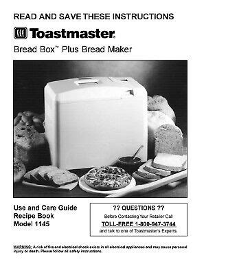 We've been reviewing zojirushi and panasonic bread makers, and now we want to review this remarkable bread machine. Toastmaster Bread Machine 1145 Operating Instruction ...