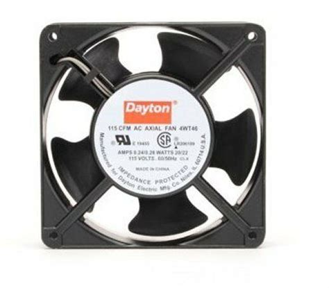 dayton axial fan 115 volts ac 20 watts 115 cfm
