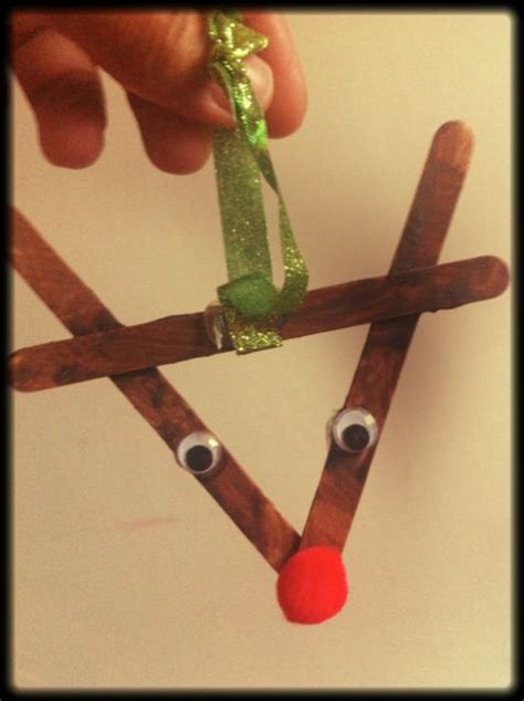 christmas craft for 3 year olds popsicle sticks reindeer and popsicles on
